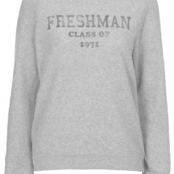 Freshman Fleece Sweatshirt by Project Social T - Grey