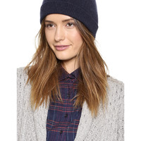 Bowknot Knit Beanie in Navy