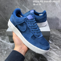 HCXX N1402 Nike Air Force 1 Low LV8 Stitching breathable Casual Skateboard Shoes Blue 1