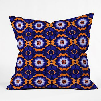 Elisabeth Fredriksson Midnight Flowers Throw Pillow