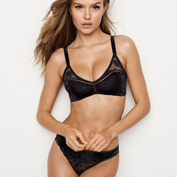 Crushed Velvet Scoop Bralette - The Bralette Collection - Victoria's Secret