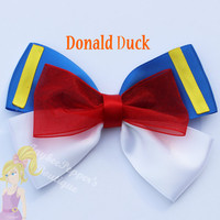 Donald Duck hair bow Mickey Mouse hair clip disney accessories girls cute vacation costume party toddler headband