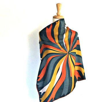 Vintage Abstract Scarf - Vera scarf - head scarf - fabric belt - sash - bandeau