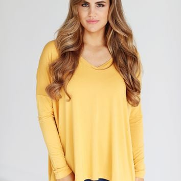 Mimosa PIKO V-Neck Long Sleeve Top