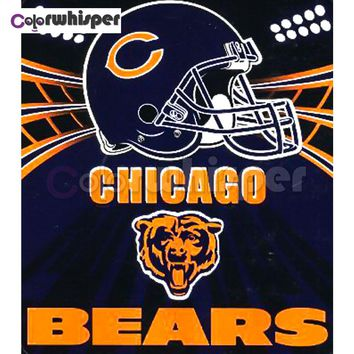 "Daimond Painting Full Square/Round Diamond?Painting""Rugby Chicago Bears""Mosaic Rhinestone embroidery Painting Wall Art LE02105"