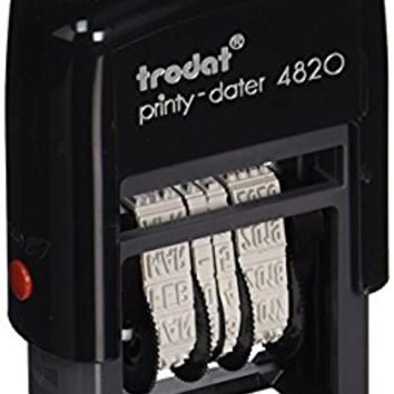 Trodat Economy Self-Inking Date Stamp, Stamp Impression Size: 3/8 x 1-1/4 Inches, Black (E4820)