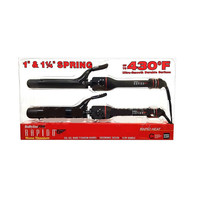 "Babyliss PRO RAPIDO 1"" & 1.25"" Curling Iron Rapid Heat Combo Set"