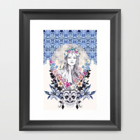 Topeng Framed Art Print by Gemma Hodgson Design