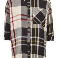 Textured Oversized Check Shirt