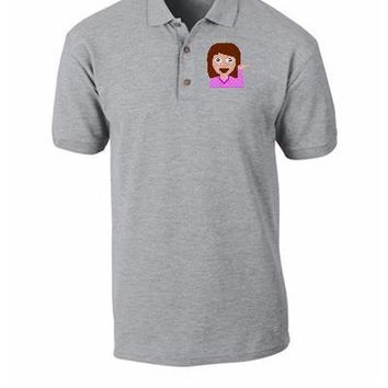 emoji girl hand left png Bucket Hat - Polo Shirt