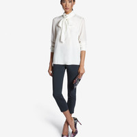 Tie neck blouse - Cream | Tops & Tees | Ted Baker