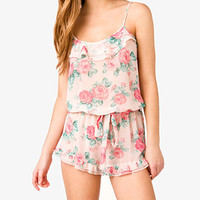 Cabbage Rose PJ Romper