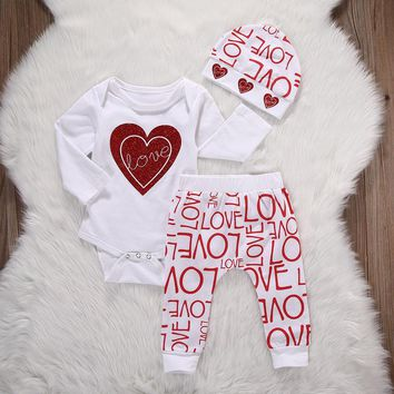 Kid's Baby Love VALENTINE'S DAY Clothing Set