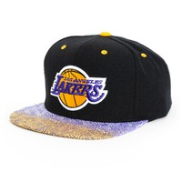 NBA Mitchell and Ness Lakers Court Vision Snapback Hat