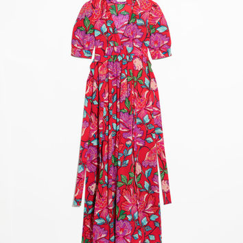 Floral Printed Dress - Red - Maxi dresses - & Other Stories GB
