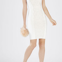Elena Jacquard Dress - White