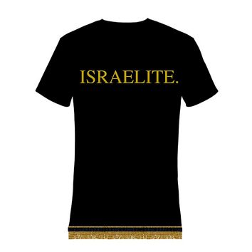 Israelite Period In Gold T-shirt With Fringes