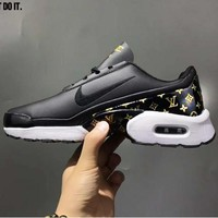 Tagre™ NIKE AIR MAX JEWELL PRM lv joint higher leather leisure sports shoes F-CSXY Black