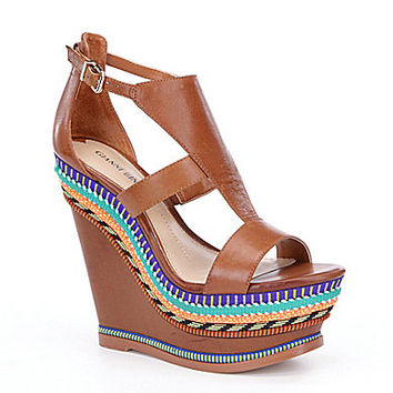 Gianni Bini Soriah Embroidered Wedge Sandals | Dillards.com
