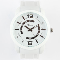 Geneva Oversized Number Watch White One Size For Men 23747715001