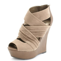 Charlotte Russe - Pleated Faux-Suede Bootie