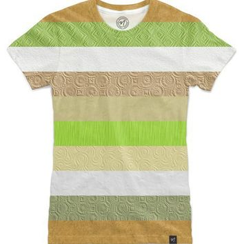 Vintage embossed paper stripes collage Women's T-Shirts by Natalia Bykova | Nuvango