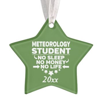 Meteorology College Student No Life or Money Ornament