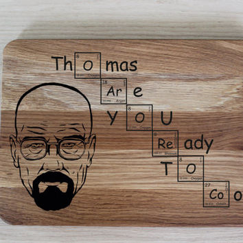 Personalized Cutting Board with LET'S COOK LOGO Breaking Bad gift Heisenberg cuttin boad Walter White cutting board