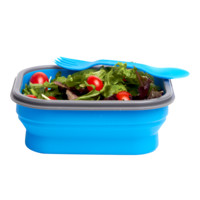 Collapsible Lunch Box with Spork (Small)