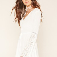 Lace-Trim Gauze Dress