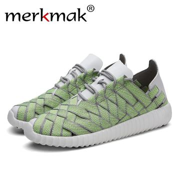Merkmak 2017 Men's Shoes Fashion Unisex Casual Flats Shoes Glitter Breathable Couple Shoes Durable Lace-Up Shoes Dropshipping