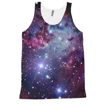 Nebula Galaxy Full All Over Print Unisex Tank Top