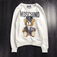DCCKI2G Moschino Woman Men Fashion Bear Top Sweater Pullover