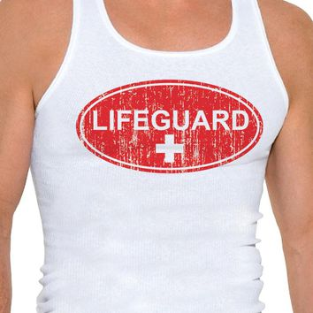 Lifeguard Mens A-Shirt Ribbed Tank Top
