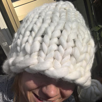 Super chunky knit hat, oversized hat, Helsinki hat, giant knitting, merinos wool hat EXPRESS WORLDWIDE DELIVERY