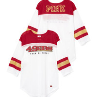 San Francisco 49ers Long Sleeve Boyfriend Tank - PINK - Victoria's Secret