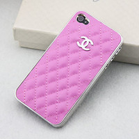 Cute Silver LOGO CC //  Pink Leather // Case White Cover by YeonS
