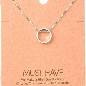 Must Have-Dainty Circle Pendant Necklace