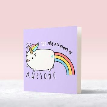 """All Kinds of Awesome"" Card"