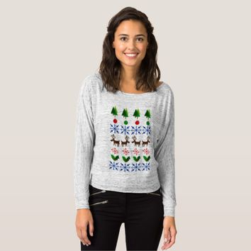 Ugly Christmas Sweater Showdown on Lady T-Shirt