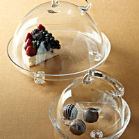 Covered Dessert Servers - Horchow
