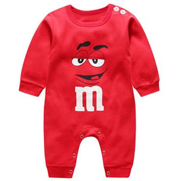 Hilenhug Baby Clothes Rompers for Boys Girls 0 to 12 months Newborn Infant Toddler One Piece Long Sleeve Cotton Overalls