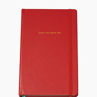 Kate Spade Take Note Paint The Town Red Large Notebook Red ONE