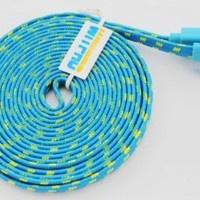 WITPRO Durable Braided Fabric Colorful 10ft 3m 3meters Extra Long USB 2.0 Charger Cable Cords for Iphone 4 4s Ipod Touch 4 Nano 6 (BLUE)