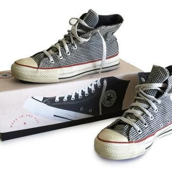 1970s Converse High Tops Chuck Taylor All Star Made in USA with Box / Black and White