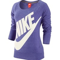 Nike Women's Gym Vintage Crew Quarter Length Shirt - Dick's Sporting Goods