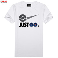 Just Pokemon Go T Shirt Parody Famous Logo Funny Design T-shirt Unisex Printed Top Tee Cool Fashion Novelty Style Tshirt
