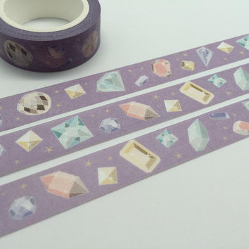 diamond tape 10M diamond washi tape colorful diamond colorful stone decor sticker tape purple tape planner accessories scrapbook gift