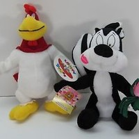 Looney Tunes plush lot Pepe Le Pew Foghorn Leghorn Stuffed Animal Warner Bros.