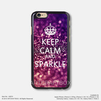 Keep calm and sparkle glitter Free Shipping iPhone 6 6Plus case iPhone 5s case iPhone 5C case 074